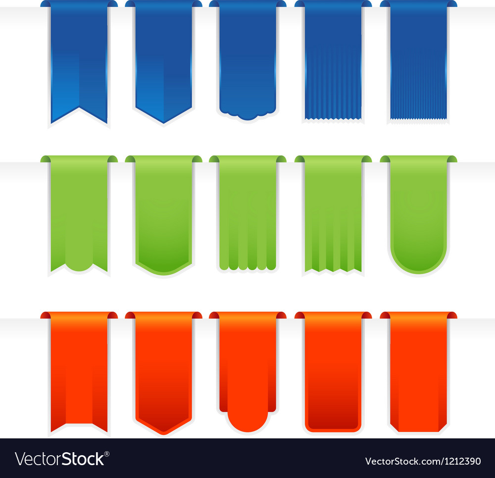 Ribbons big set vector