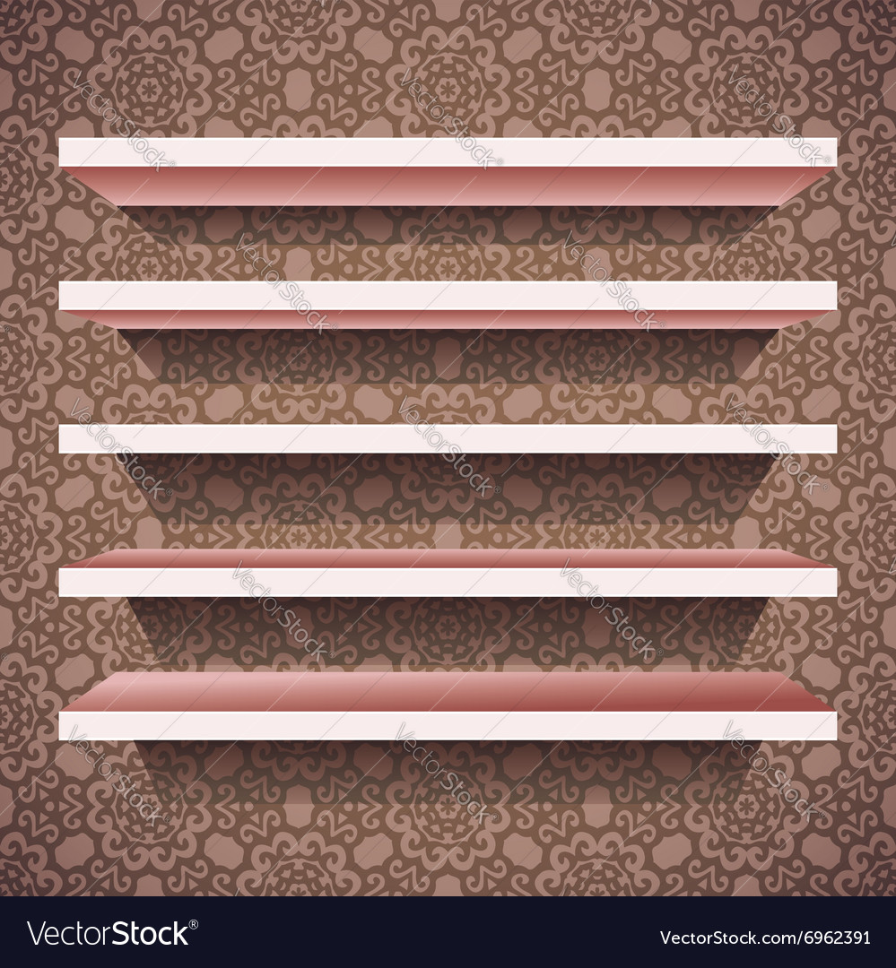 Five shelves vector