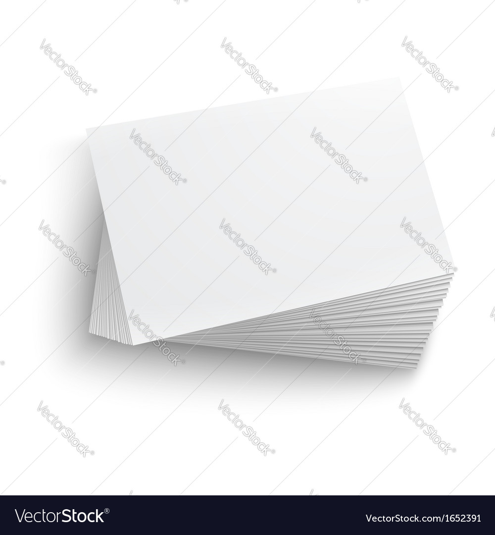 Stack of blank business card vector