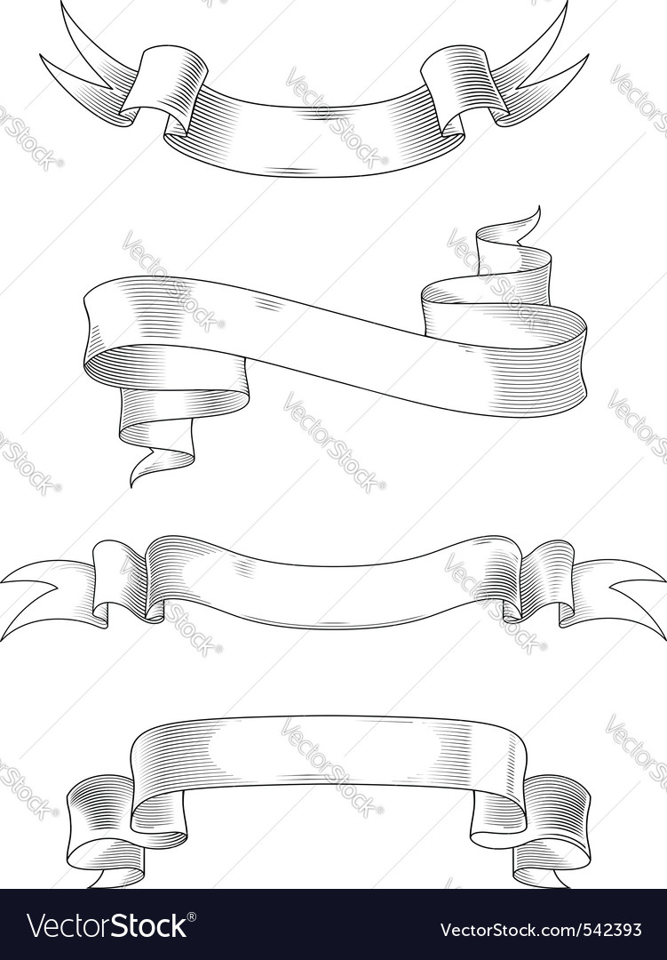 Heraldry ribbons vector