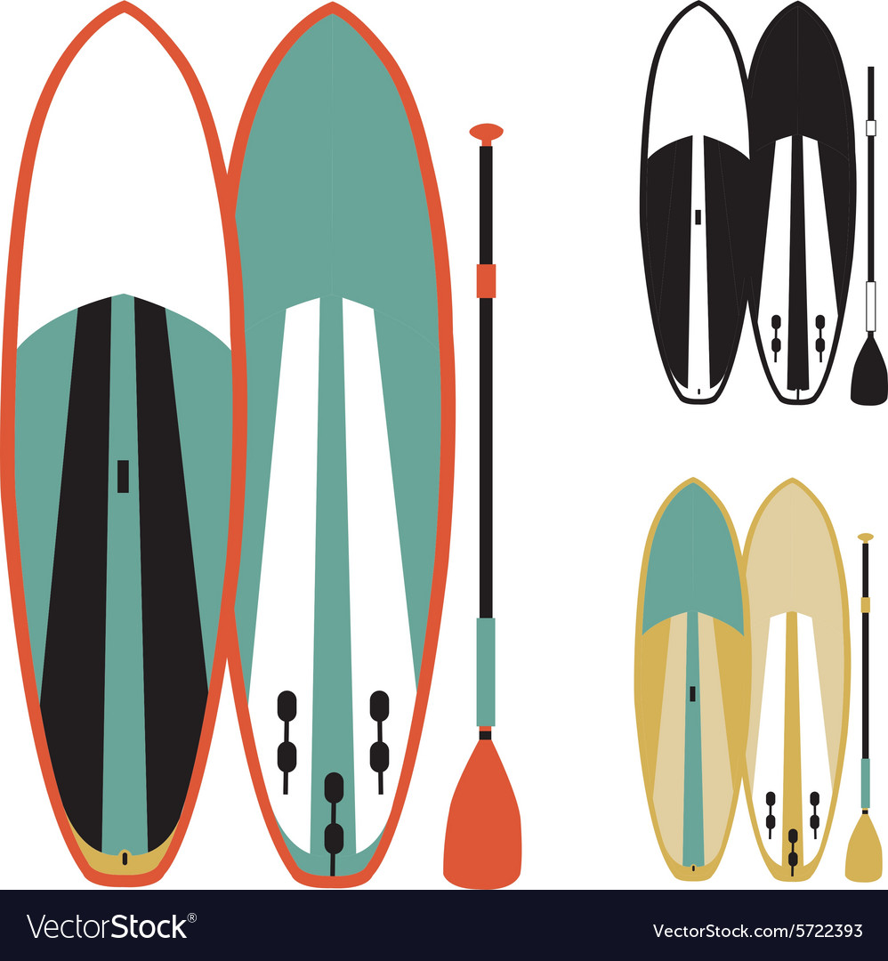 Stand up paddle boards vector