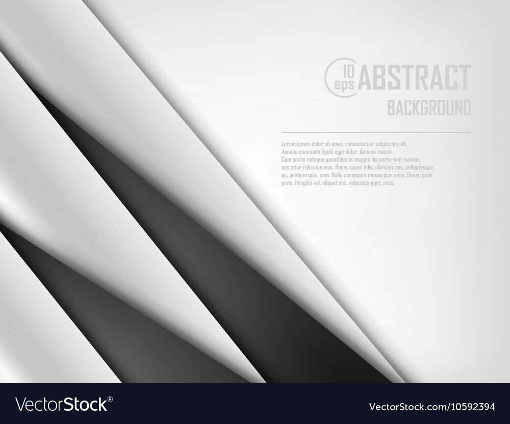 Abstract background of white and black origami vector
