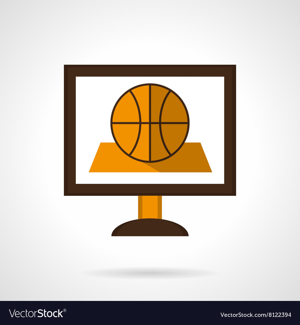 Basketball online flat color icon vector