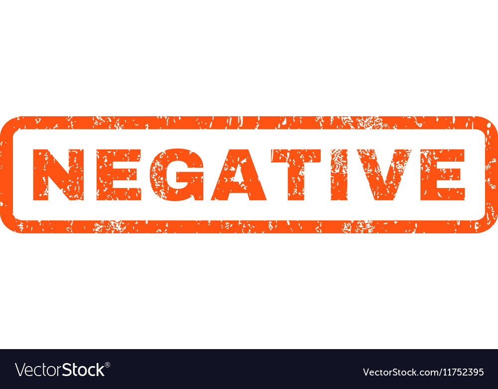 Negative rubber stamp vector