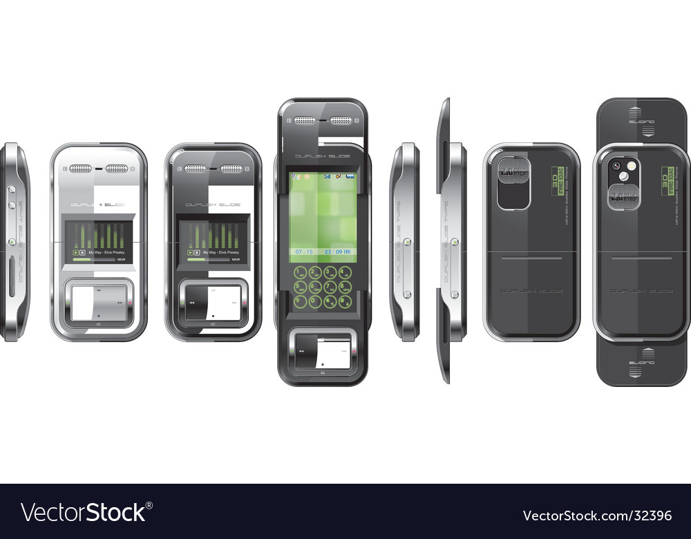 Slide phone high tech vector