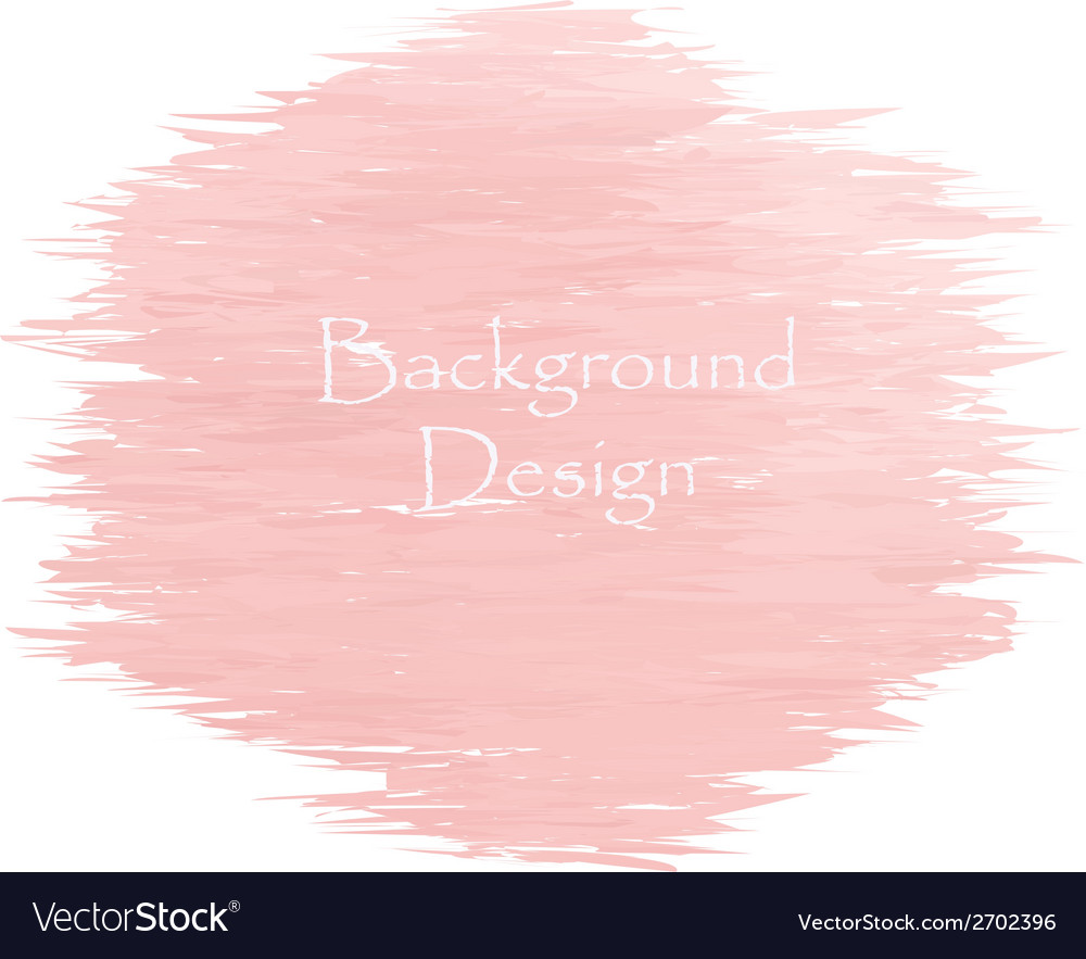 Watercolor peach color strokes vector