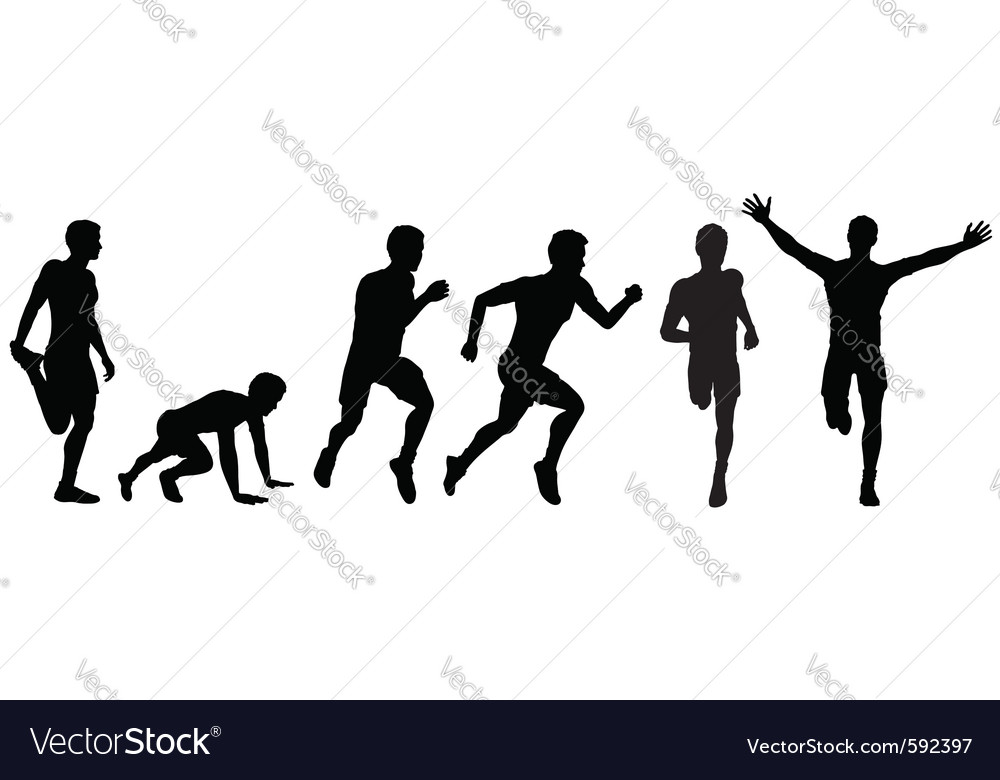 Running man for design vector