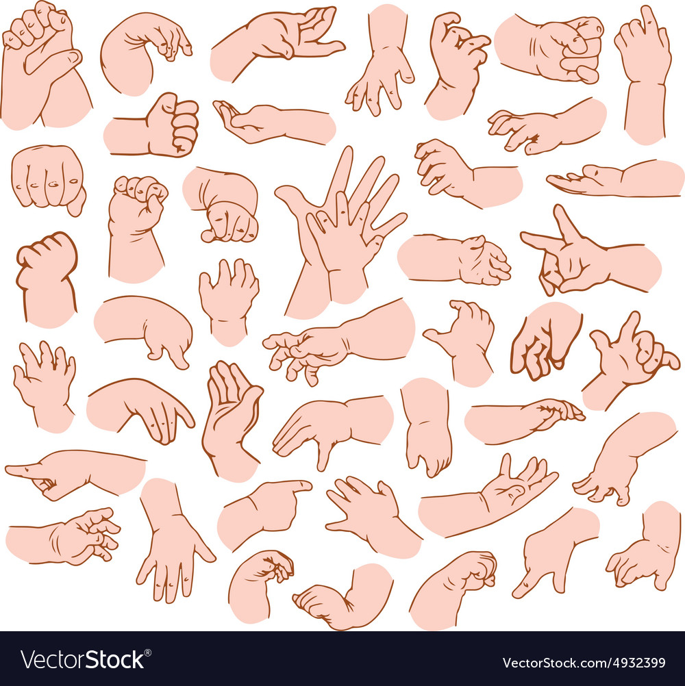 Baby hands pack vector