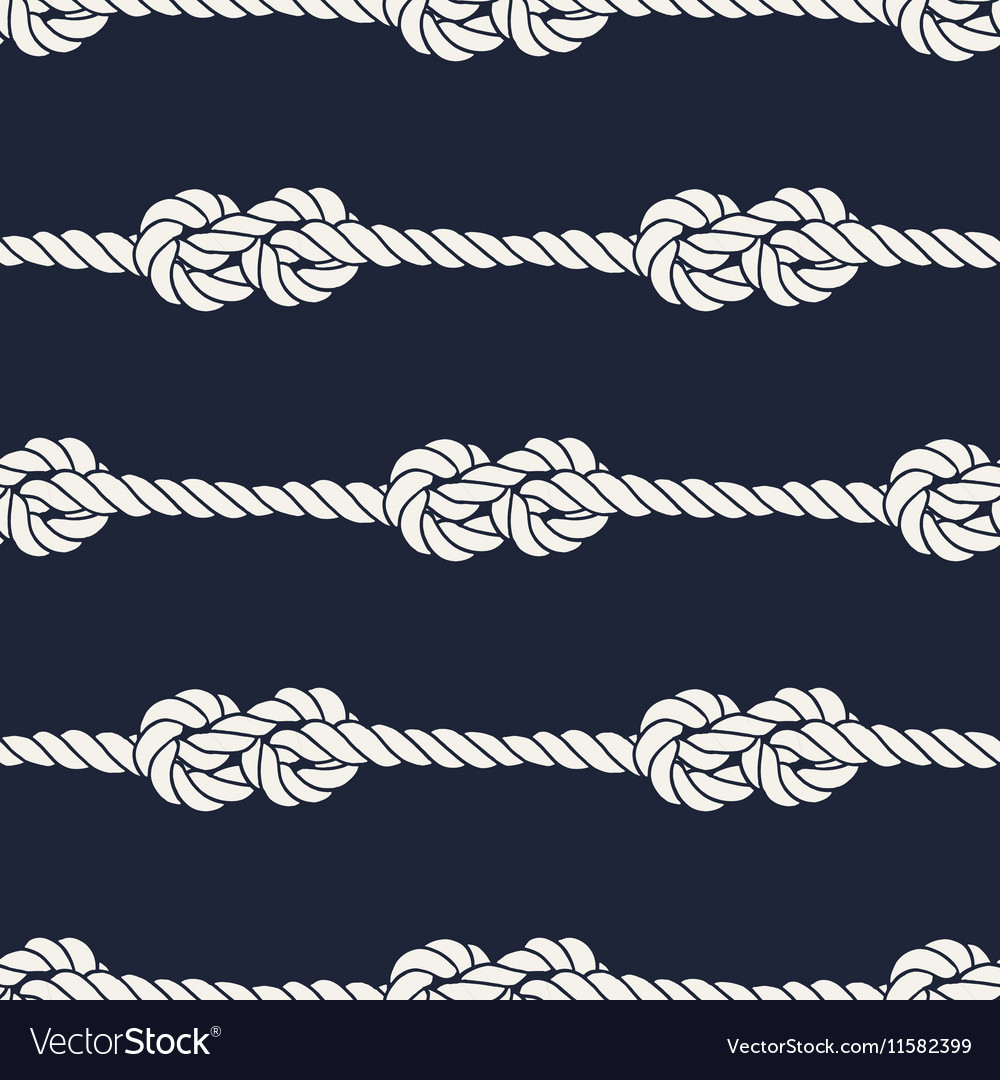 Seamless nautical rope pattern  figure 8 knots vector