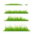 Green Grass Line Set vector image