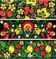 Patterns in traditional russian style Hohloma vector image