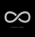 Infinity Symbol on Dark Background vector image vector image