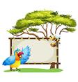 Parrot Honey Bee Signboard vector image vector image