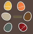 Easter eggs happy easter card vector image vector image