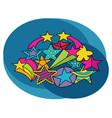 stars design set cartoon free hand draw doodle vector image