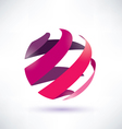 abstract red globe icon energy concept vector image