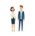 business people - modern flat design vector image vector image