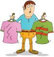 Man Choosing clothers vector image