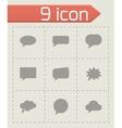 speach bubbles icon set vector image