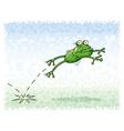 jumping frog vector image