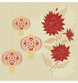 Chinese Lantern with Flowers4 vector image vector image