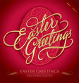 Easter greetings hand lettering Vector Image