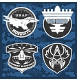 Air Force military emblem set design vector image