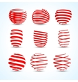 3d ribbons set for your designs presentations and vector image
