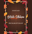autumn background with leaves for shopping sale or vector image
