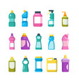 cleaning household products chemical cleaners vector image