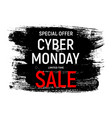 cyber monday background sale concept vector image