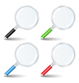 magnifying glasses vector image