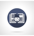 Pharmaceutics book blue round icon vector image