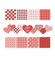 set of seamless patterns for valentines day vector image