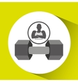silhouette amrs crossed and dumbbell vector image