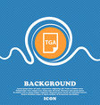 Image File type Format TGA icon sign Blue and vector image