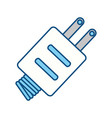 isolated electric plug vector image