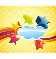 discotheque banner with stars vector image