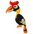 cute horn bill cartoon posing vector image