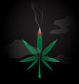 Cannabis Burned vector image