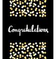 Congratulations Calligraphy Congratulations vector image