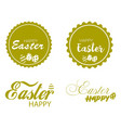 easter greeting card posters vector image