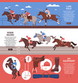 equestrian sport horizontal banners vector image