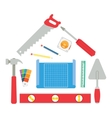 House made of tools vector image