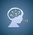 Icon child and question marks vector image