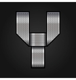 Letter metal chrome ribbon - Y vector image