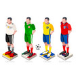 world cup football team vector image