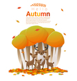 Hello autumn background with deers vector image
