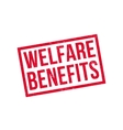 Welfare Benefits rubber stamp vector image