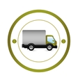 Delivery truck vehicle vector image